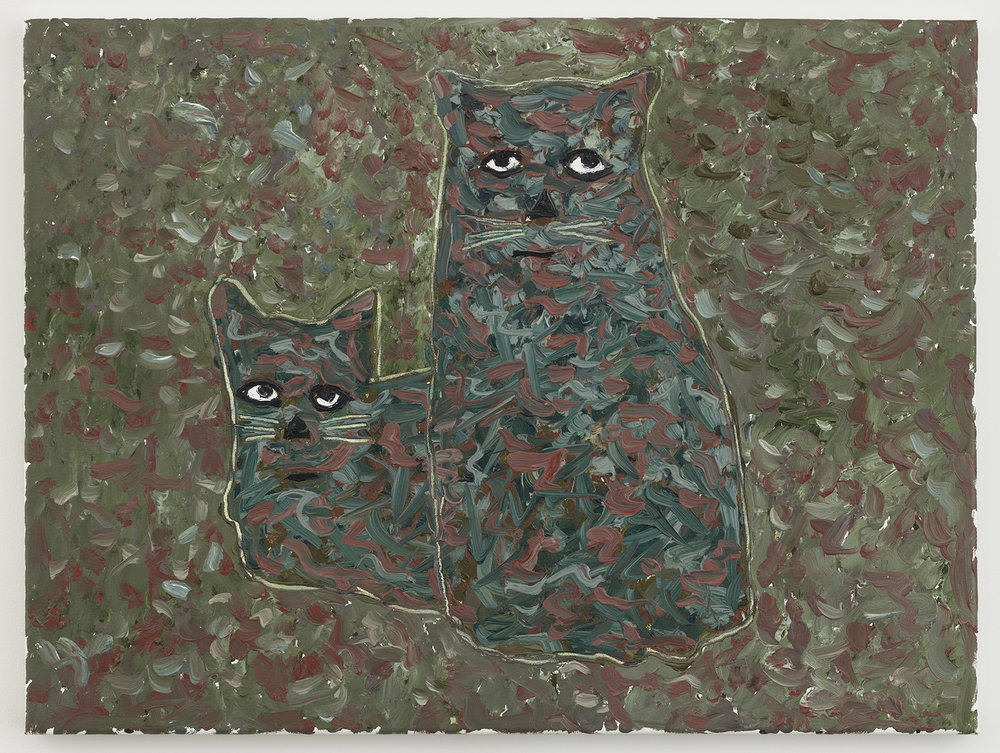 crazy cats 29 , 2017-18 oil on canvas 18 x 24 inches