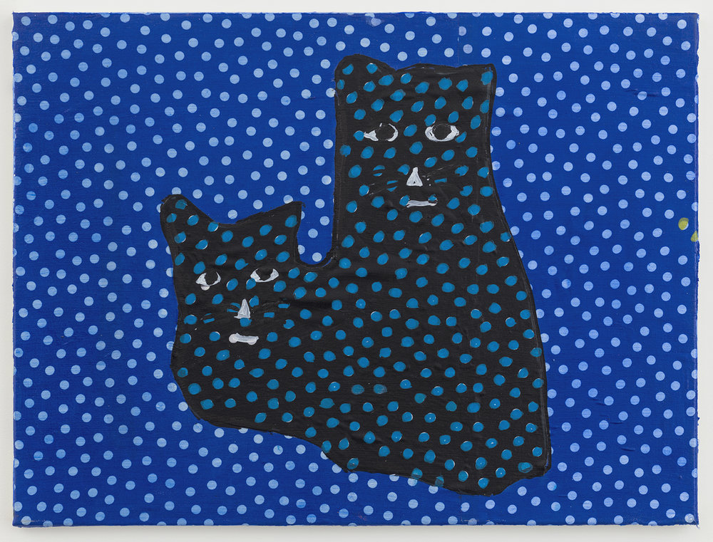 crazy cats 31 , 2017-18 oil on canvas 18 x 24 inches