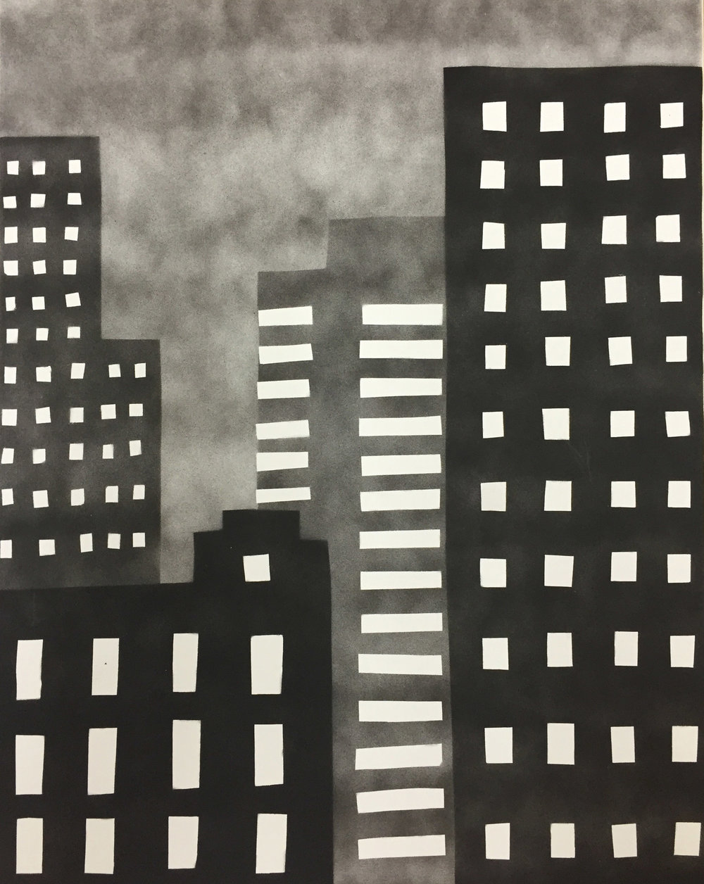 NEW YORK 80 , 2015 spray paint on linen 20 x 16 inches