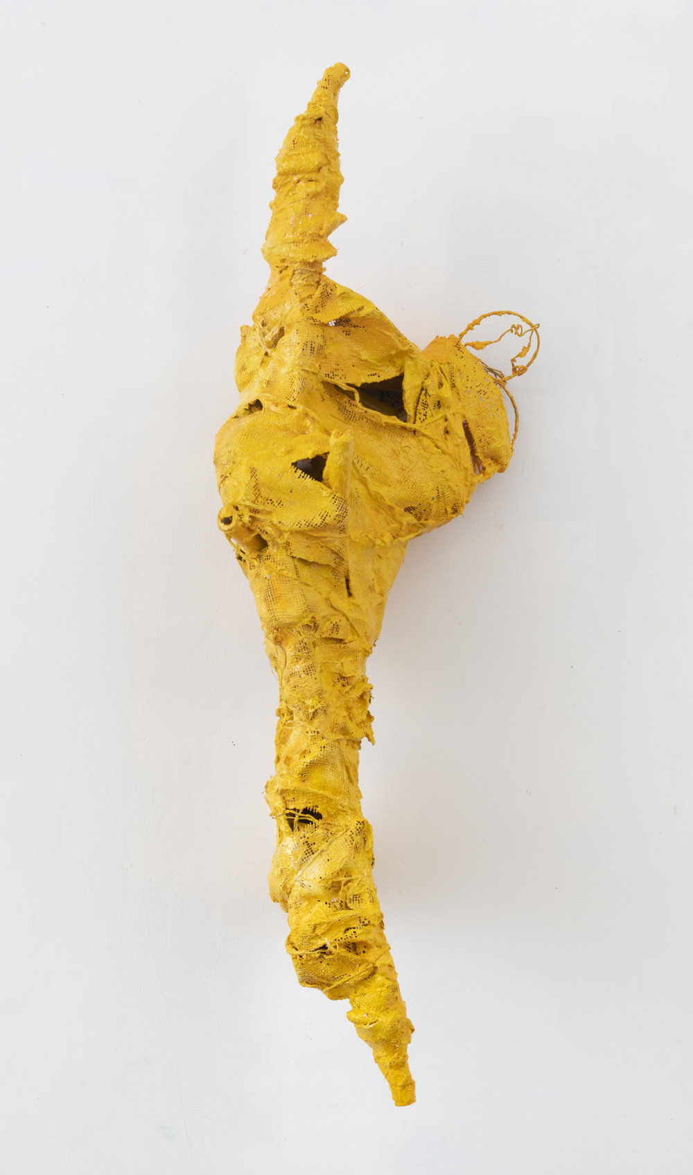 the letter (thomas hardy),  2019 plaster, wire, mesh, oil 44 x 16 x 13 inches