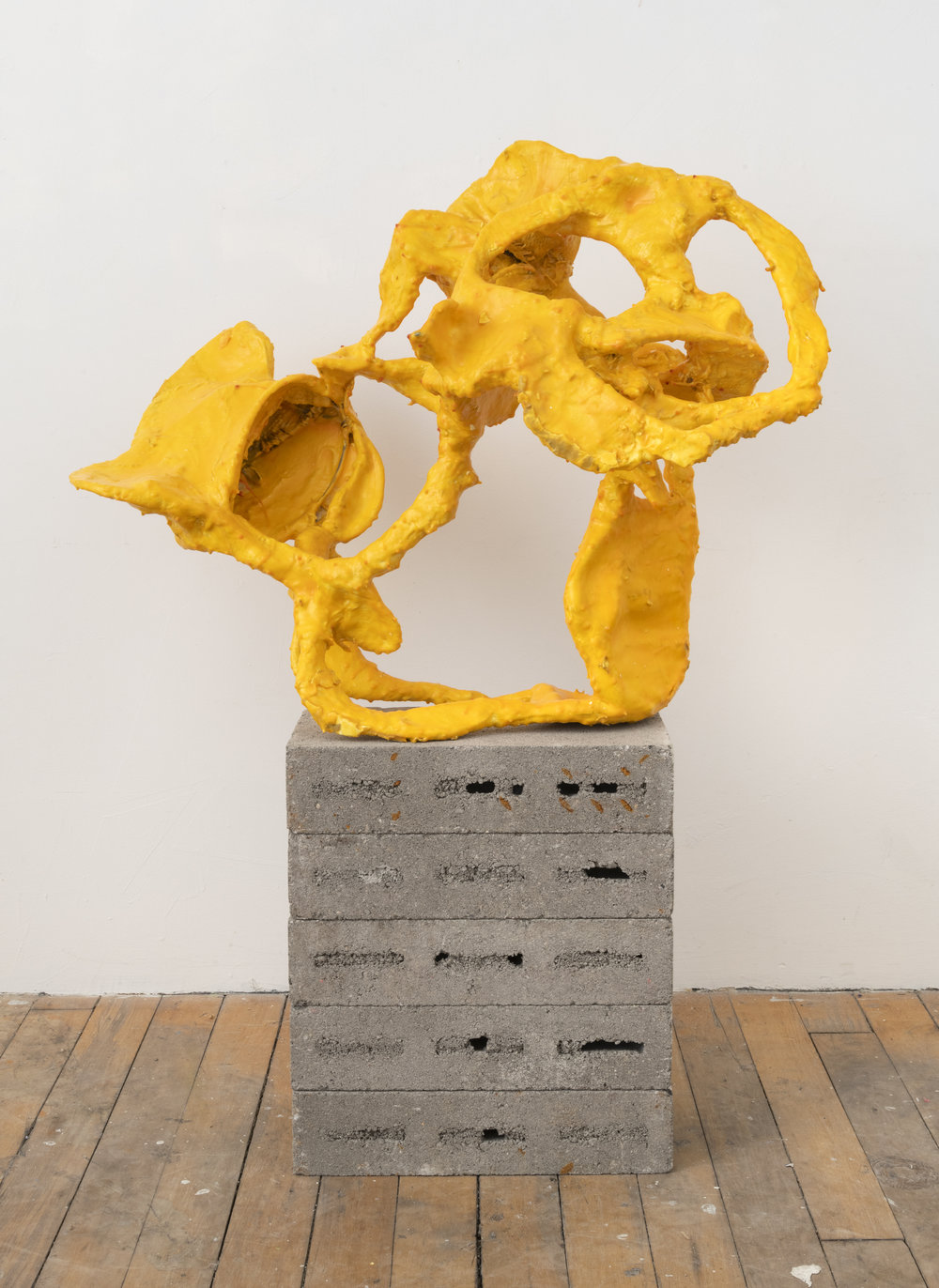 modern dance (martha graham),  2018 plaster, burlap, wire and glue 44 x 31 x 19 inches