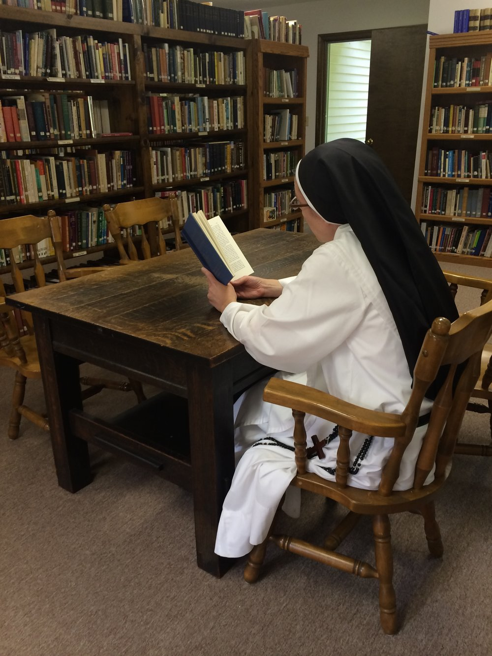for dominicans, study is a form of prayer. the sisters spend at least one to two hours a day in study.