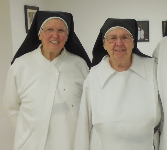 Sr. Mary Agnes of the Eucharist and Sr. Anne Mary of the Trinity