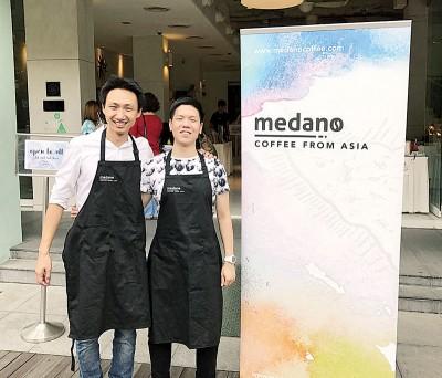 Medano Coffee创办人黄伟豪(左)和钱源广。