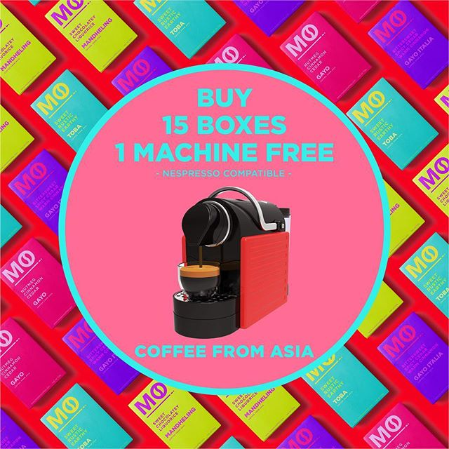 In the spirit of the 12 days of Christmas, it's never too late during the season of giving! Grab yourself a FREE Medano Coffee Machine (RRP: $390) with every purchase of 15 boxes of our 20 Pod Coffee! Exclusively this festive season. Only available at COURTS Megastore in Tampines & Redmart ✨🎄