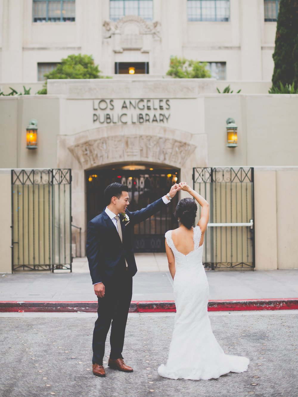 100 LAYER CAKE : Whimsical Downtown Los Angeles Wedding