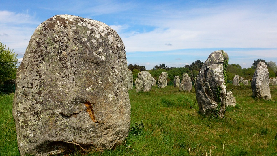 The Carnac Stones, Brittany. Local Legend claims that the stones were once a Roman Legion. The great sorcerer, Merlin, turned the Legion to stone.
