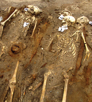Grave findings at Salme (Courtesy Liina Maldre, University of Tallinn)
