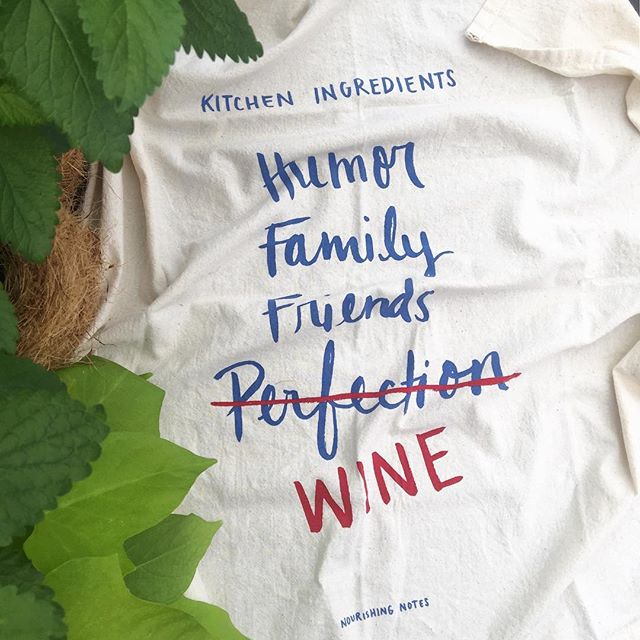 Our new mantra perhaps?! Wine not?🍷🍷 😂 (Kitchen towel printed by our food-obsessed friends at @nourishingnotes and now available in the market 👩🍳!) Just a reminder we are closed today and tomorrow (July 4th) but we're here for you all weekend long: Thurs-Mon / 11am-3pm. Wishing you a safe, happy Independence Day! 🇺🇸✨💥