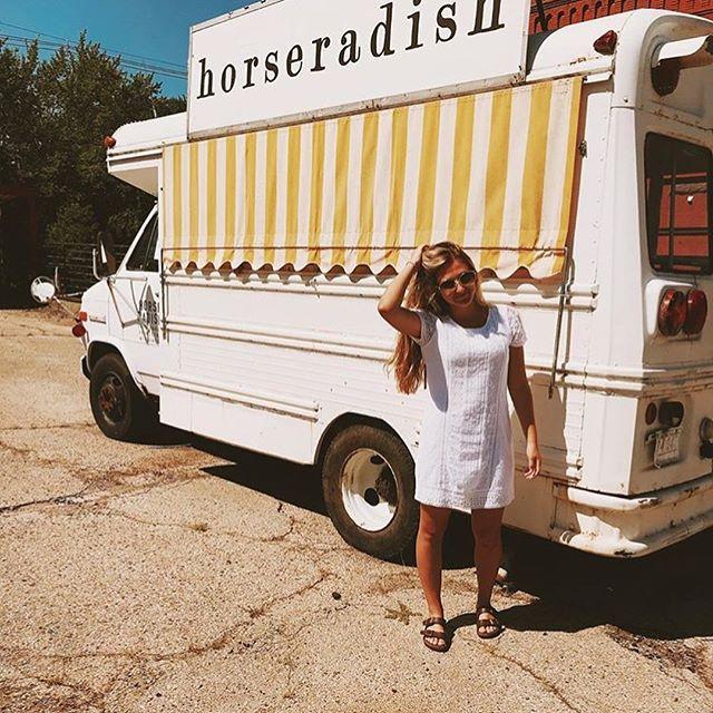 Horseradish represent! The old school bus is on break but she got visitors! 1. @dana_oyen 2. @lauren.elizabeth_1 3. @gracekokoris