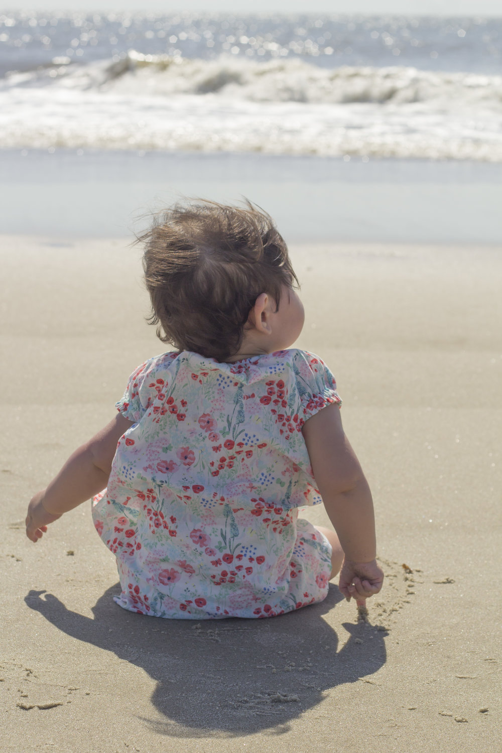 Baby Beach Photography Ideas--Back View