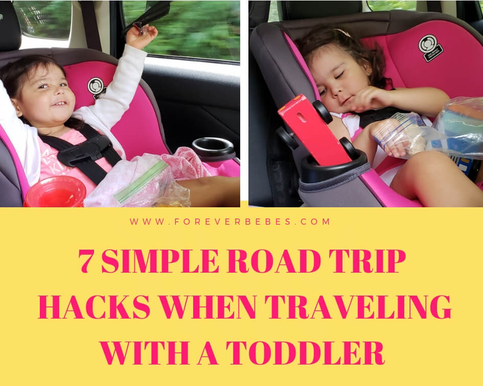 7 simple road trip hacks when traveling with a toddler