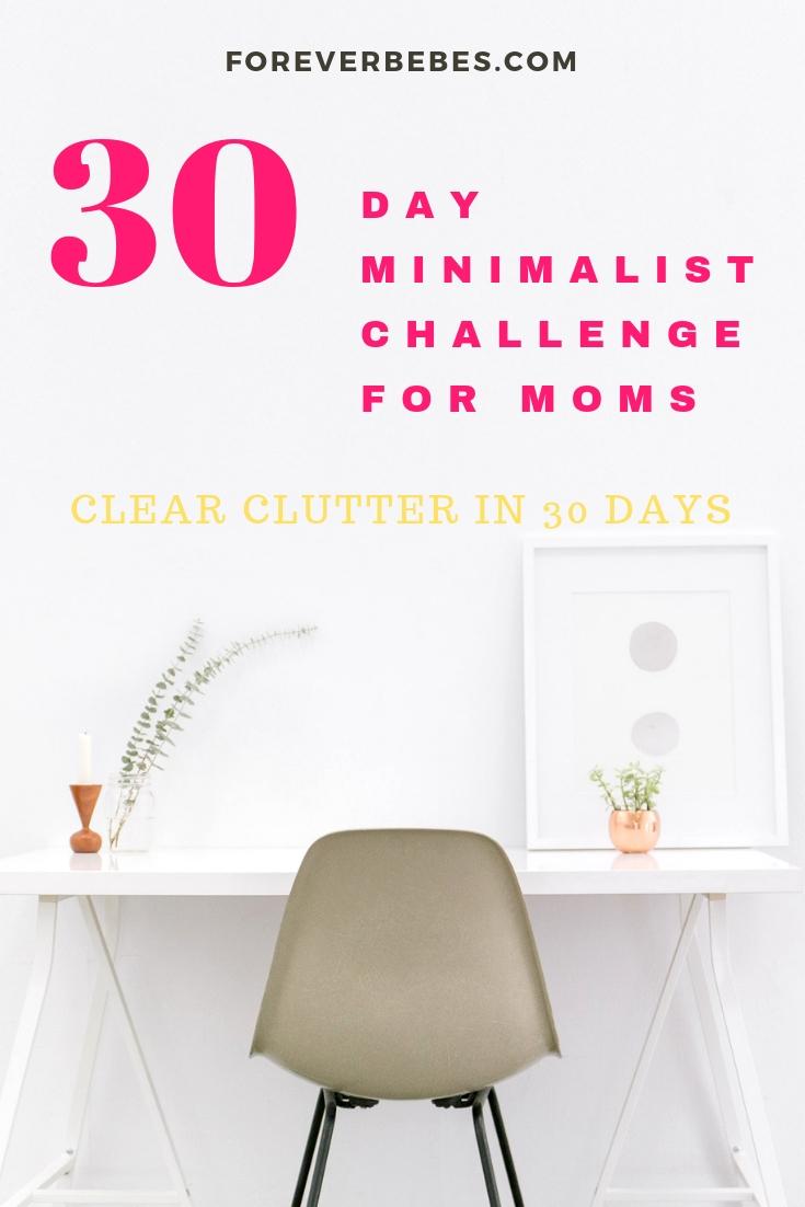 30 day minimalist challenge