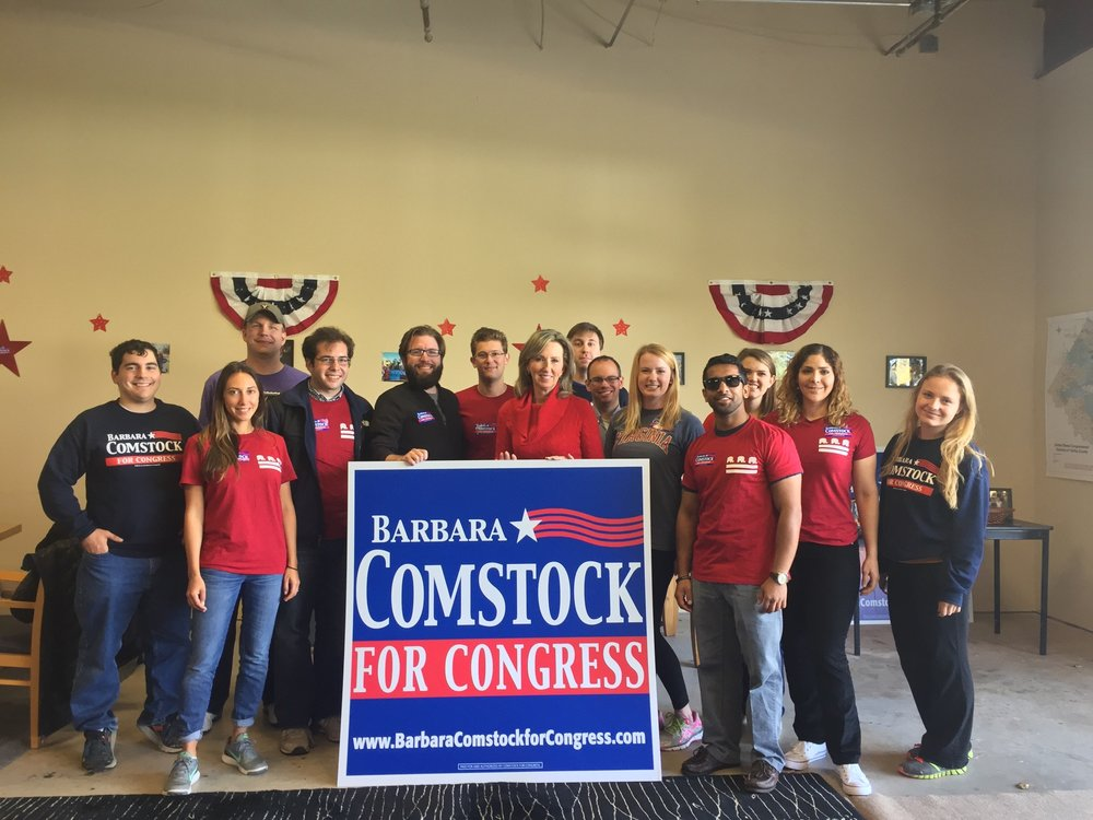 GOTV for Barbara Comstock on October 2016.