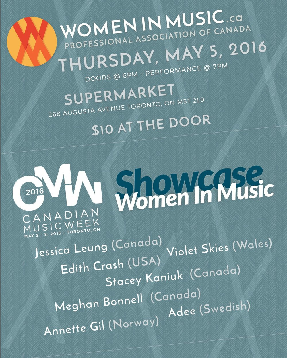 Canadian Music Week Showcase