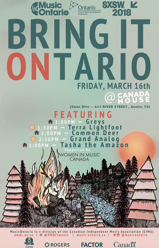 SXSW 2018 Music Ontario Showcase