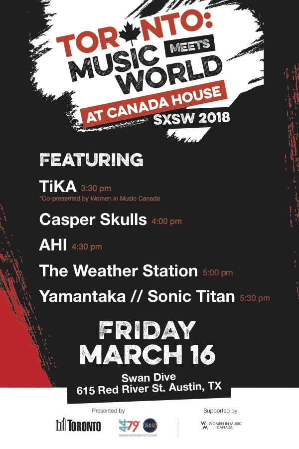 SXSW 2018 City of Toronto Showcase
