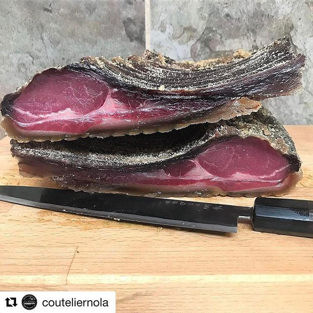 Yall- we are dying over this dry aged boar! #Repost @couteliernola with @repostapp ・・・ 95 day #koji dry-aged louisiana wild boar... zero salt. color and aroma are 👌🏼🐗👌🏼 #projects #kojibuildscommunity #dryage #wildboar #japanesefermentation #fermentation #takeda #couteliercooks