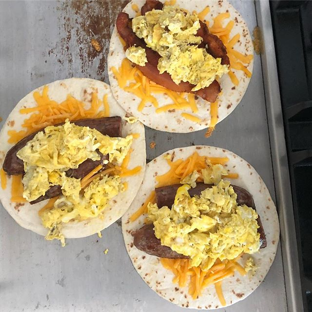 Sausage, it's not just for dinner. #charliessausage #wildboar #breakfasttacos