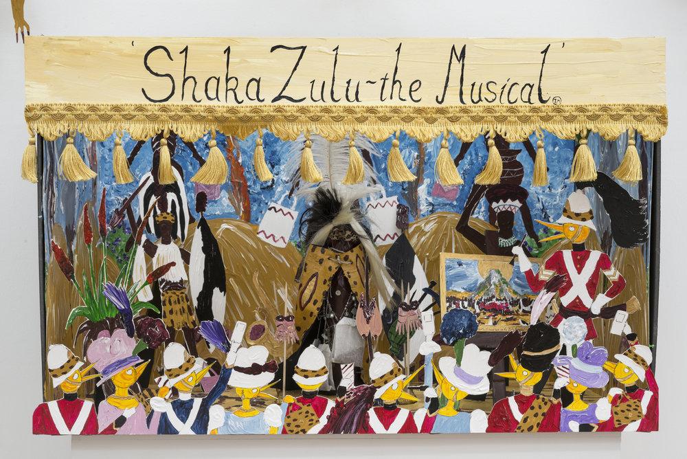 Andrew Gilbert,  Shaka Zulu - the Musical (model) , 2016, mixed media, 86 x 74 x 55 cm.Copyright: © 2017 the artist. Courtesy of SPERLING, Munich.