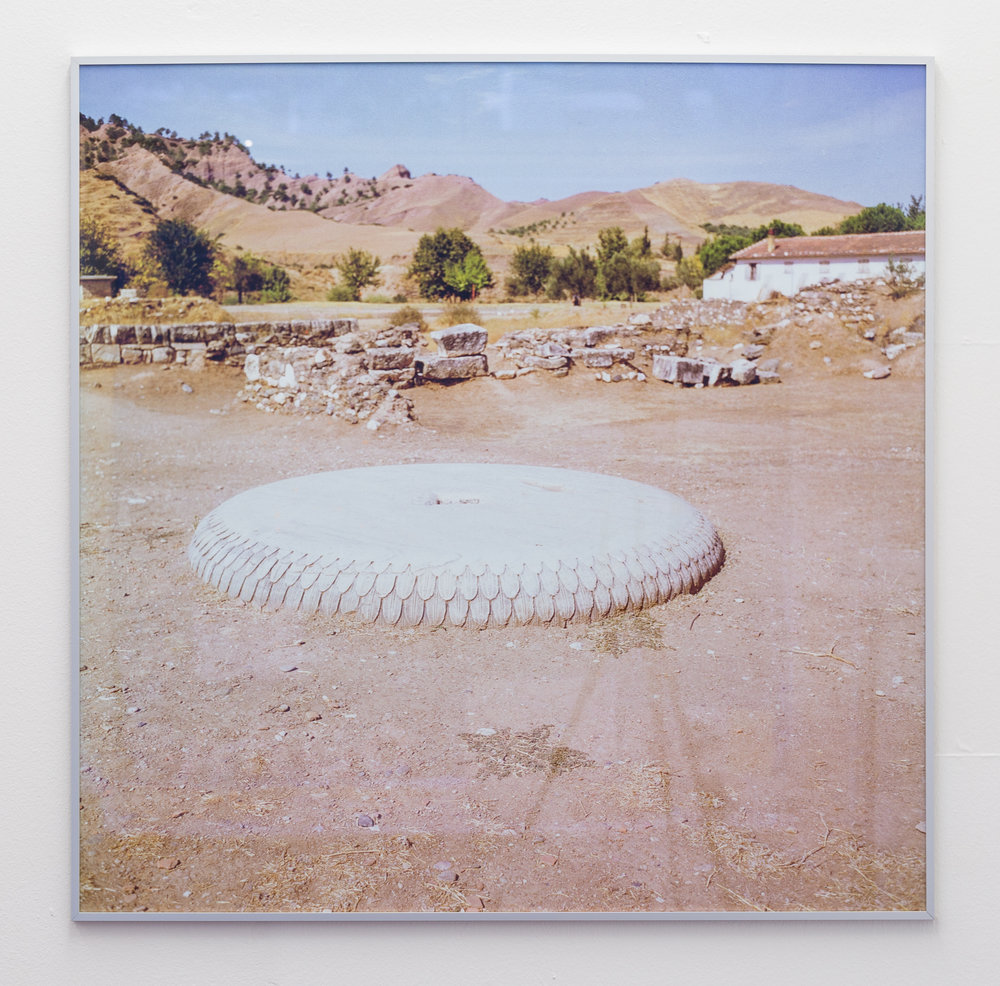 Donatella Bernardi,  Portique Syrien Series 4 , 2015, inkjet print mounted on aluminium board, 101 x 101.5 cm Photo: Kilian Bannwart