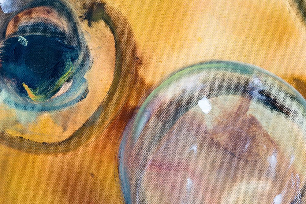 Hans Witschi,  The Soap Bubble  (detail), 1994, oil on primed cotton, 121,9 x 91,4 cm  Photo: Kilian Bannwart