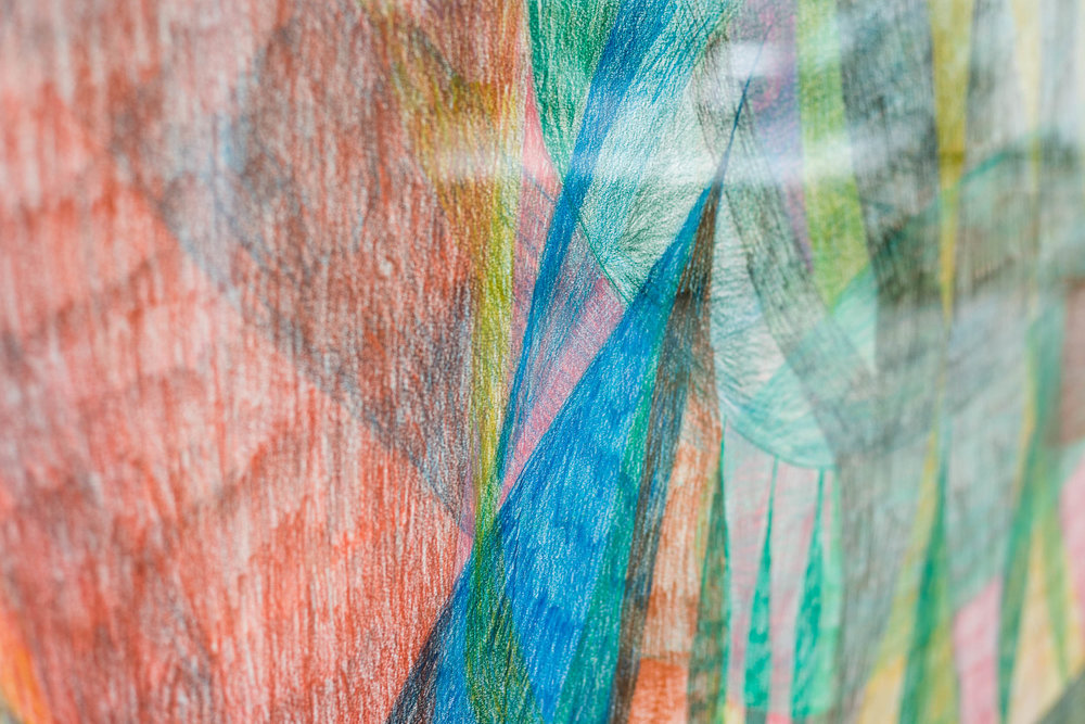 Sabine Schlatter,  Untitled , (detail), 2011, colored pencil on paper, 150 x 140 cm  Photo: Kilian Bannwart