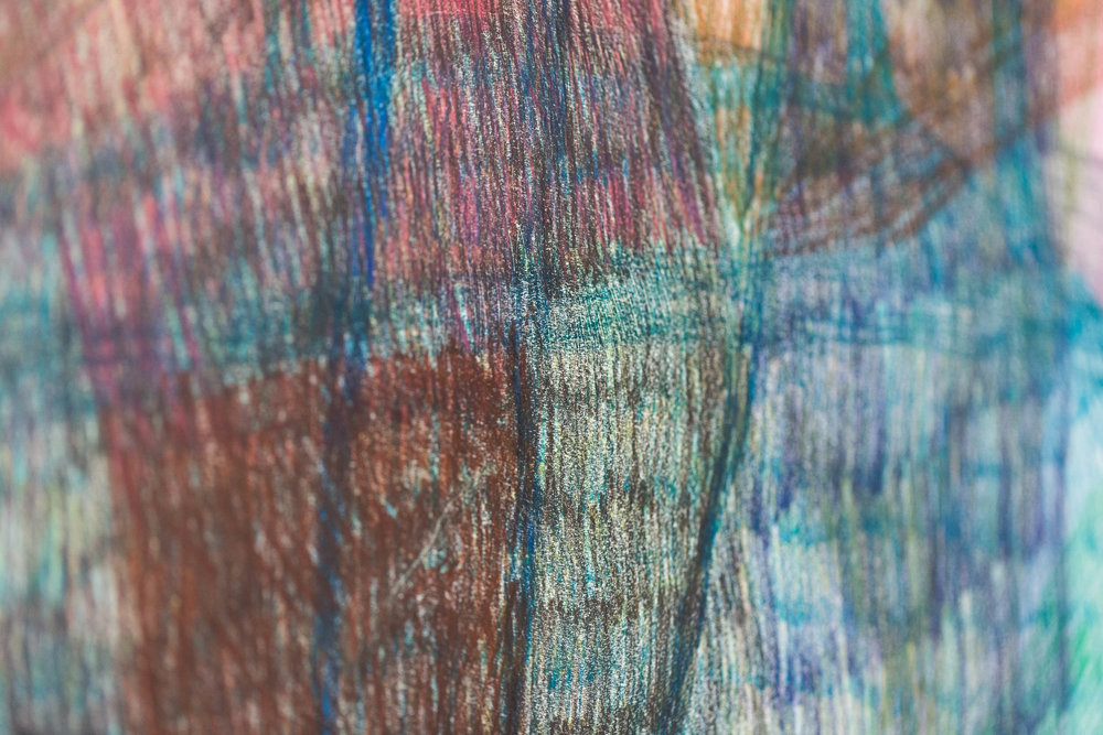 Sabine Schlatter,  Untitled , (detail), 2011, colored pencil on paper, 154 x 150 cm   Photo: Kilian Bannwart