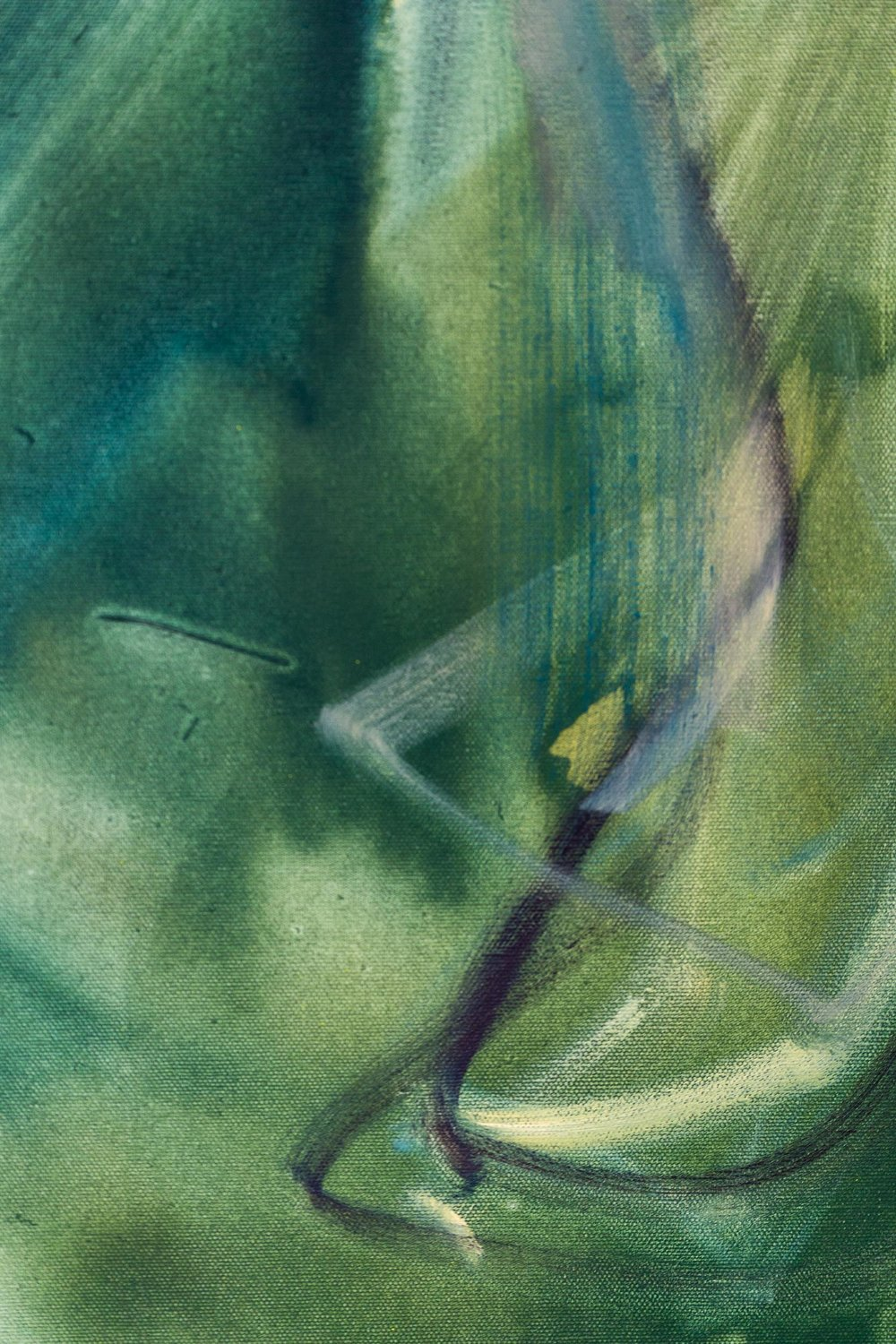 Hans Witschi,  Horse and Rider at Nightfall , (detail), 1992, oil on primed cotton, 152 x 91 cm   Photo: Kilian Bannwart