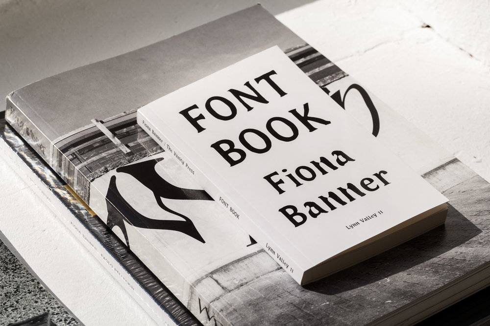 Fiona Banner, Vanity Press Various Publications: Font Books, WpWpWp  Photo: Kilian Bannwart