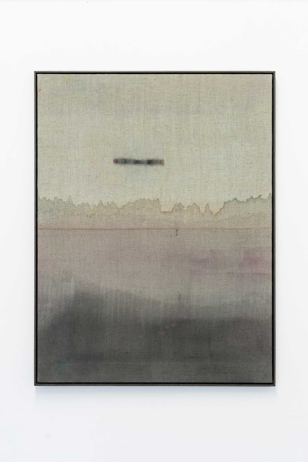Kirstine Roepstorff,  Illustration # , 2017,   Watering:Pigment, cloth, linen  ,   72 x 94 cm Photo: Kilian Bannwart