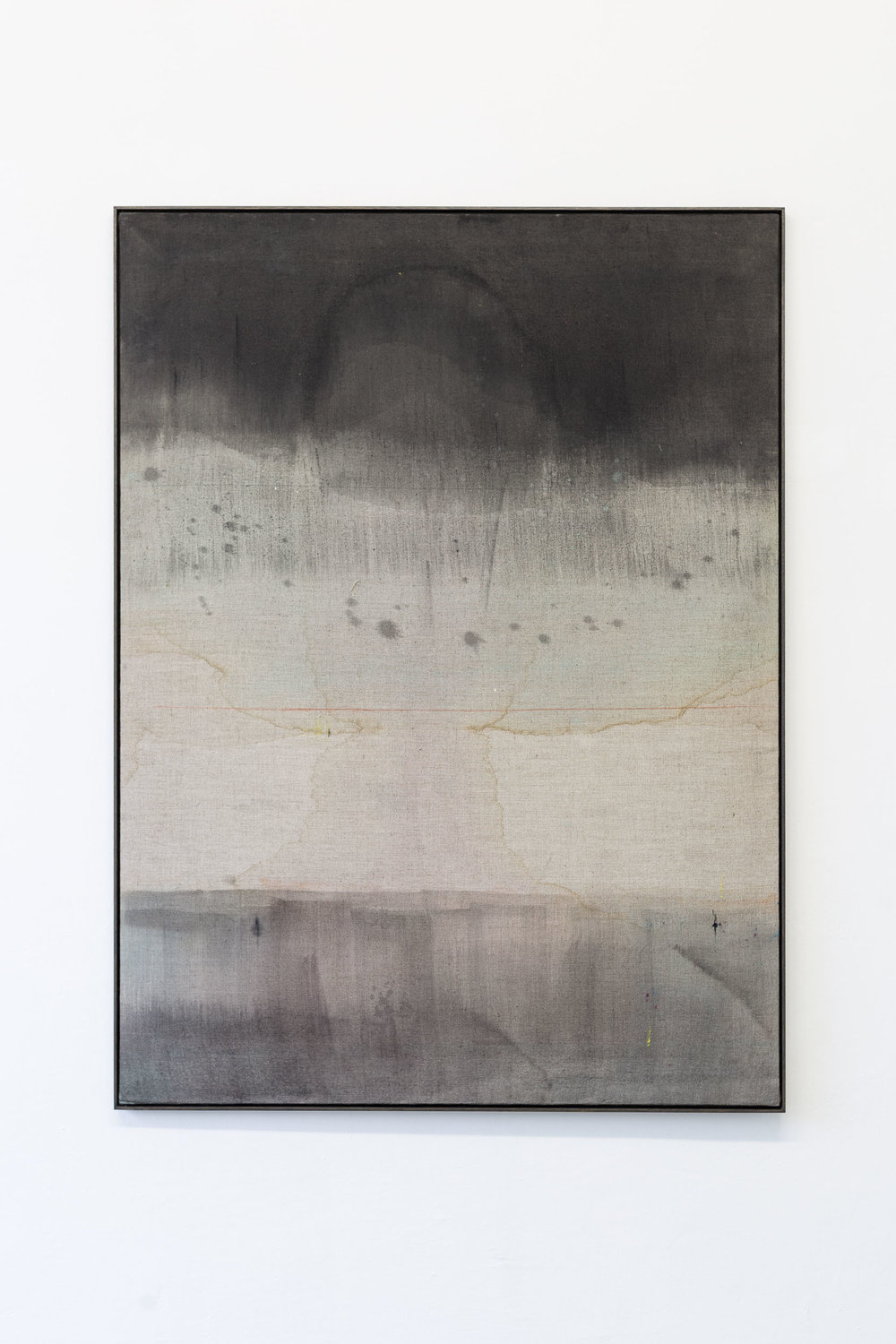 Kirstine Roepstorff,  Illustration # , 2017,   Watering:Pigment, cloth, linen  ,   102 x 137.5 cm   Photo: Kilian Bannwart