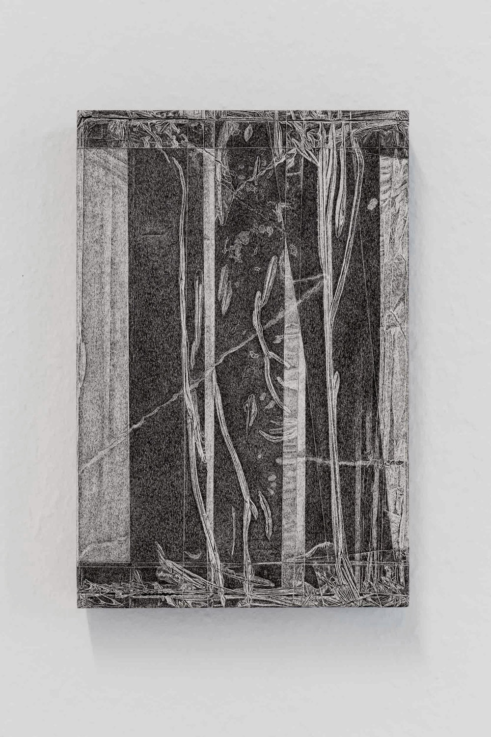 Kong Chun Hei,  Parcel , 2018, Ink on paper mounted on wooden frame, 20 x 30 x 5cm