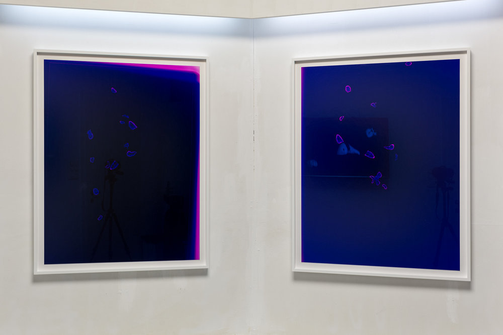 Mélodie Mousset,  Constellations , 2016, Photogram, 85 x 109cm each  Photo: Kilian Bannwart
