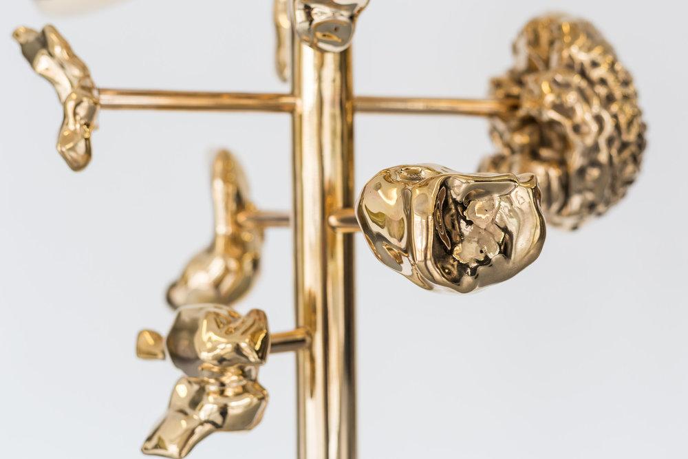 Mélodie Mousset,  Hanger  (detail),  2015, Bronze, 194 x 50 x 50 xm  Photo: Kilian Bannwart