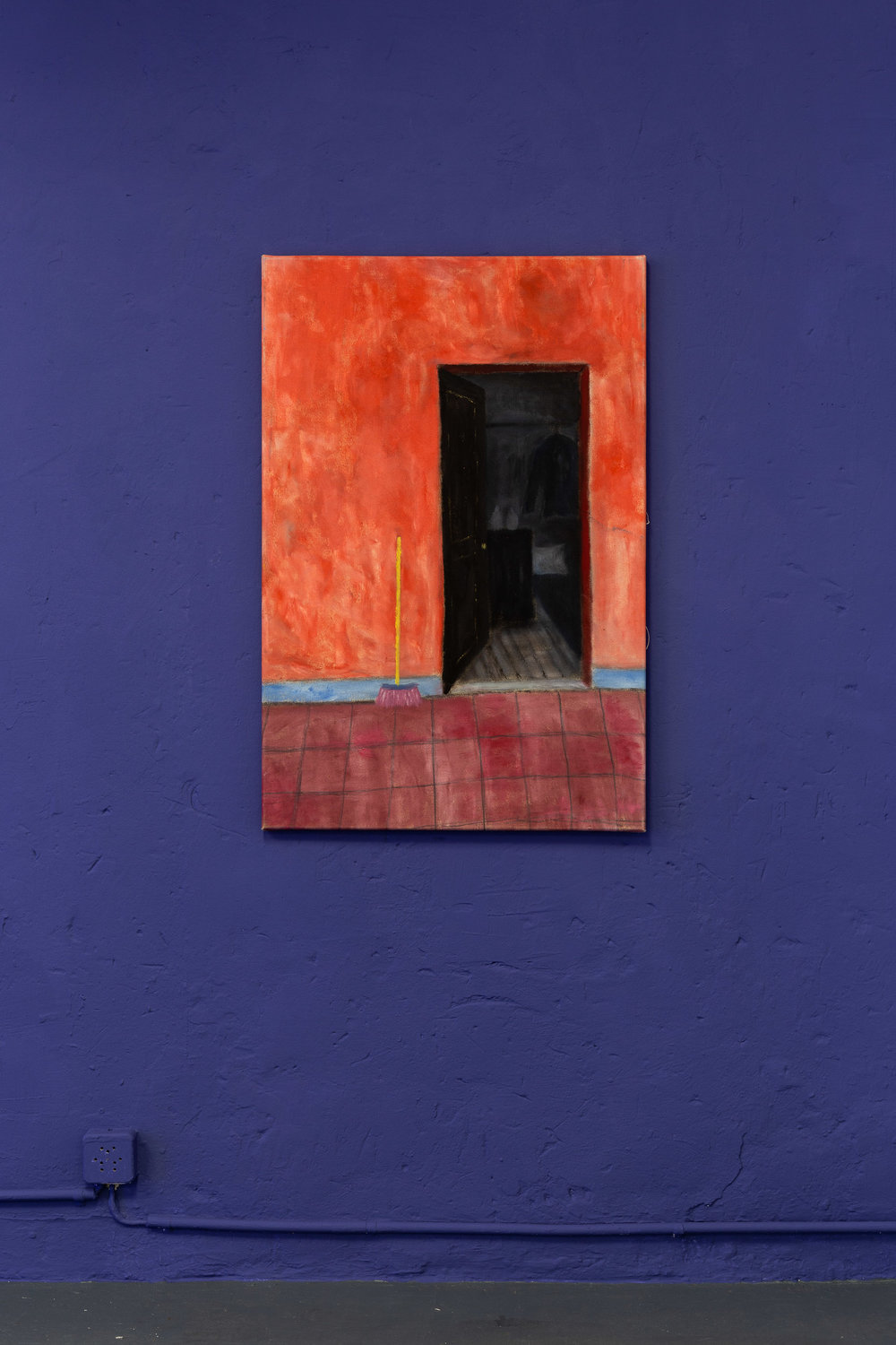 Dieter Hall,  Mexican Hallway,  2002, Oil on canvas, 90 x 60 cm  Photo: Kilian Bannwart