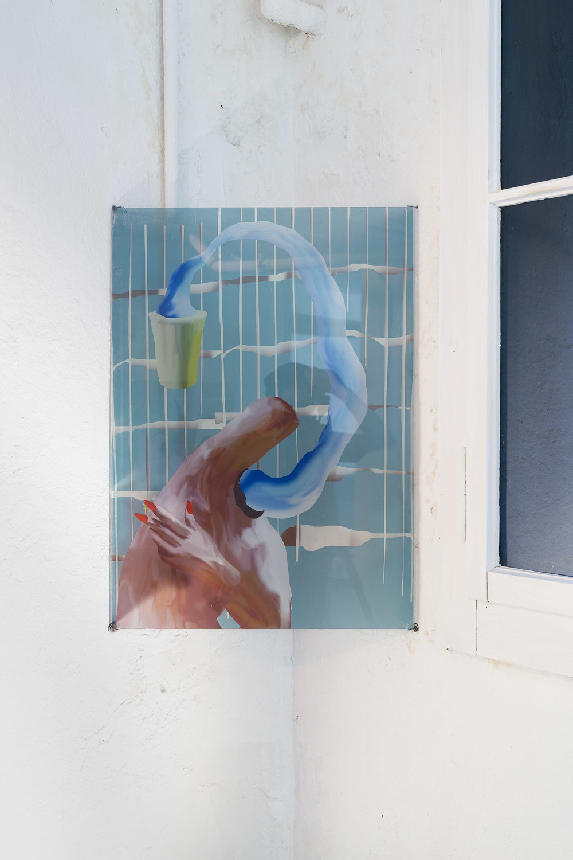Xénia Lucie Laffely,  Water creature,  2018, Acrylic print, 70 x 50 cm  Photo: Kilian Bannwart