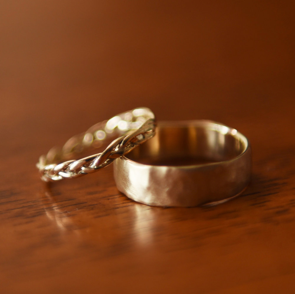 Gold Wedding Band Pair, $700