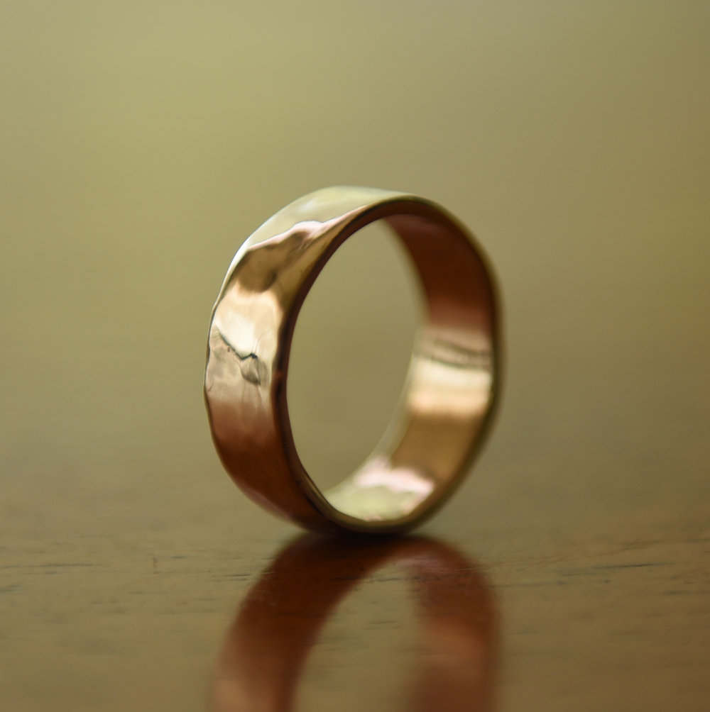 14k High Polish Gold Band, $450