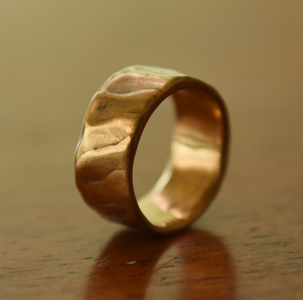 22k Gold Hammered Band, $650