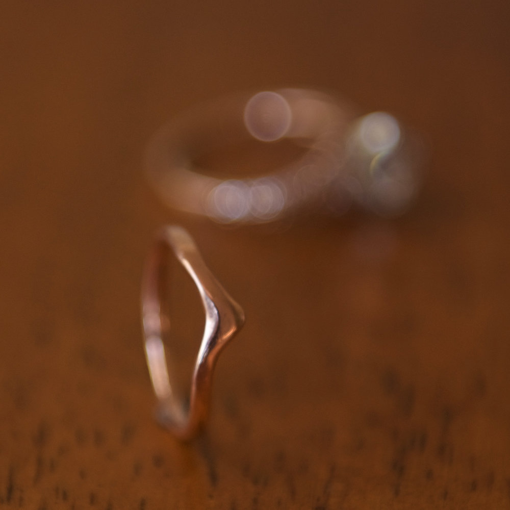 Rose Gold Contoured Ring, $450