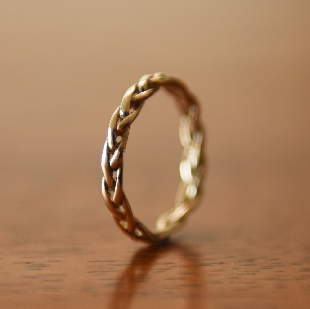 14k Gold Braided Ring, $400