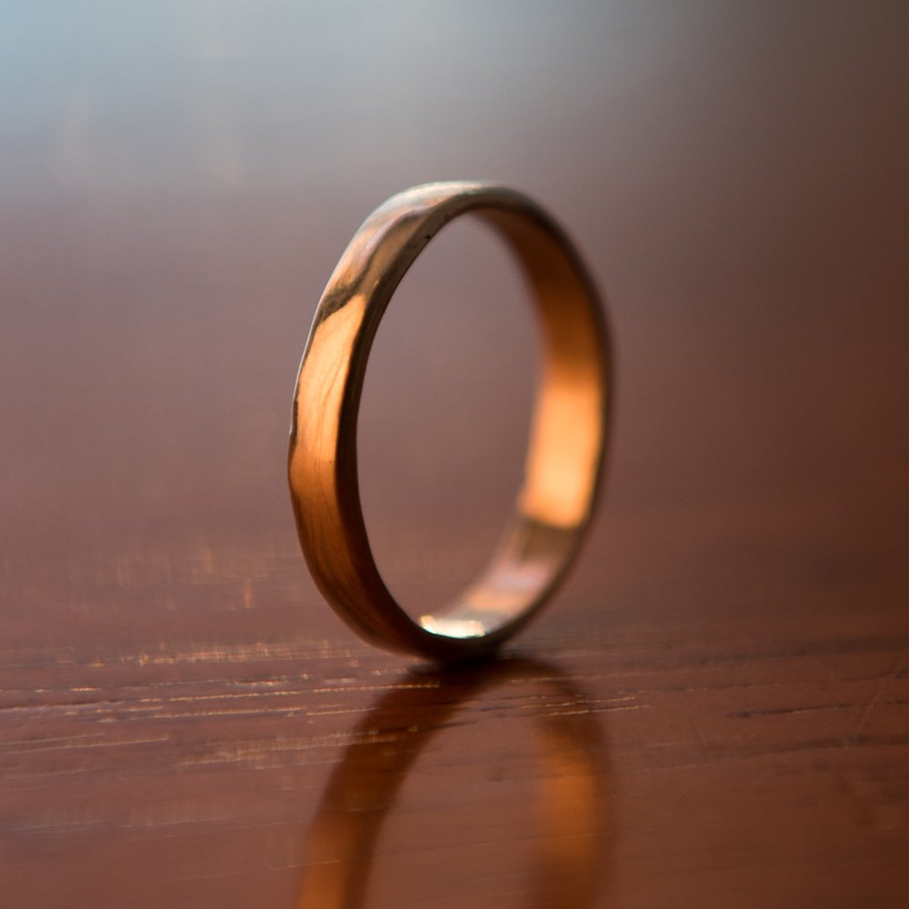14k Gold Smooth Band, $400