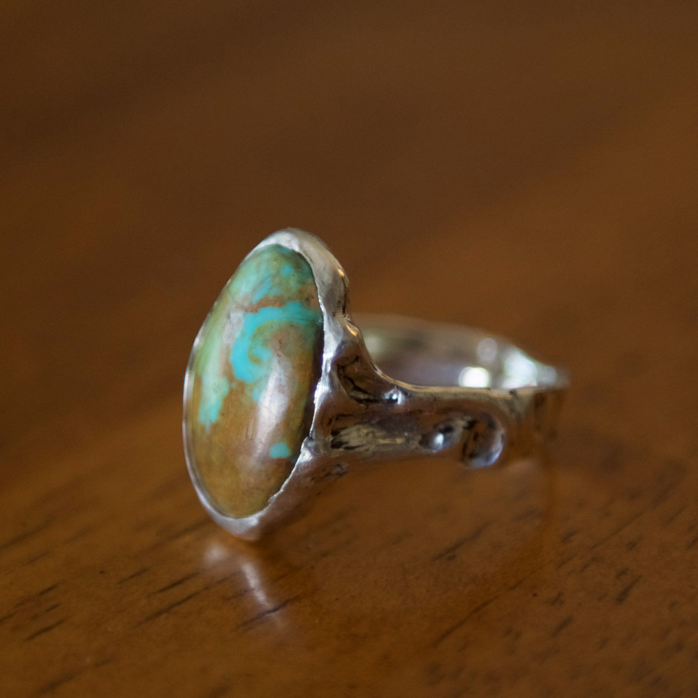 Turquoise & Silver Ring, $350