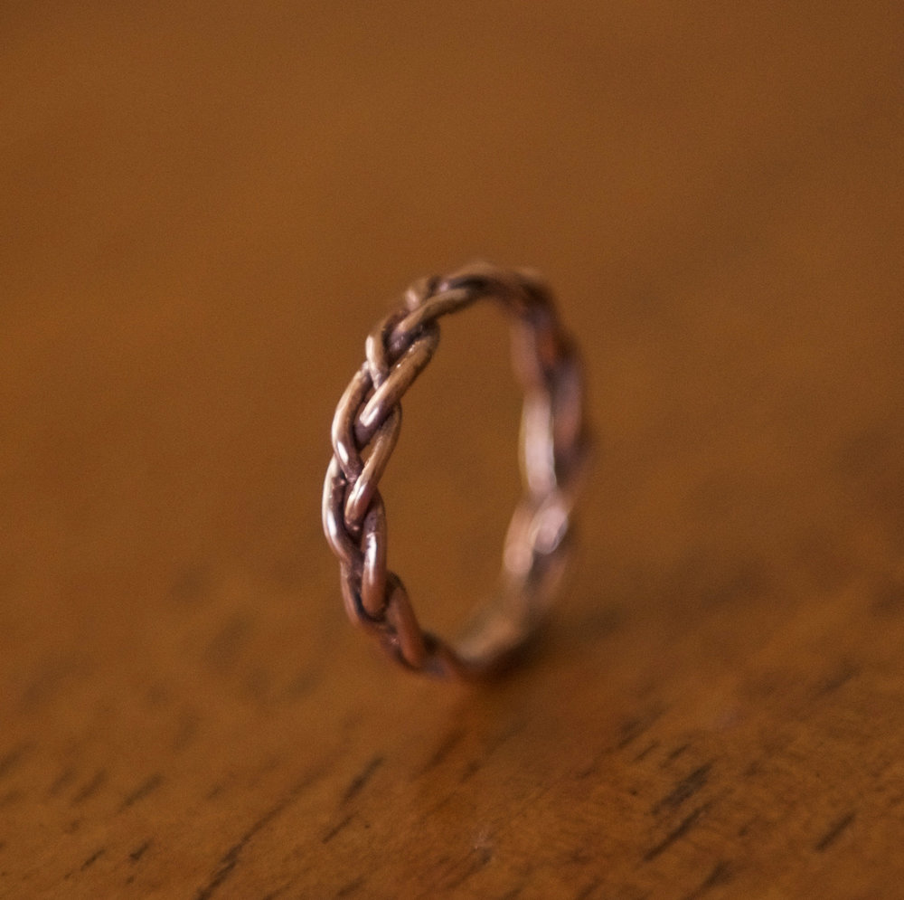 Braided Copper Ring, $40