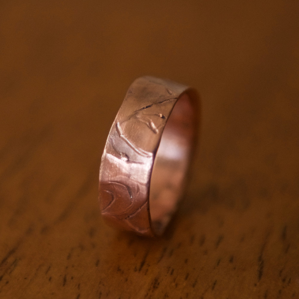 Etched Copper Band, $60