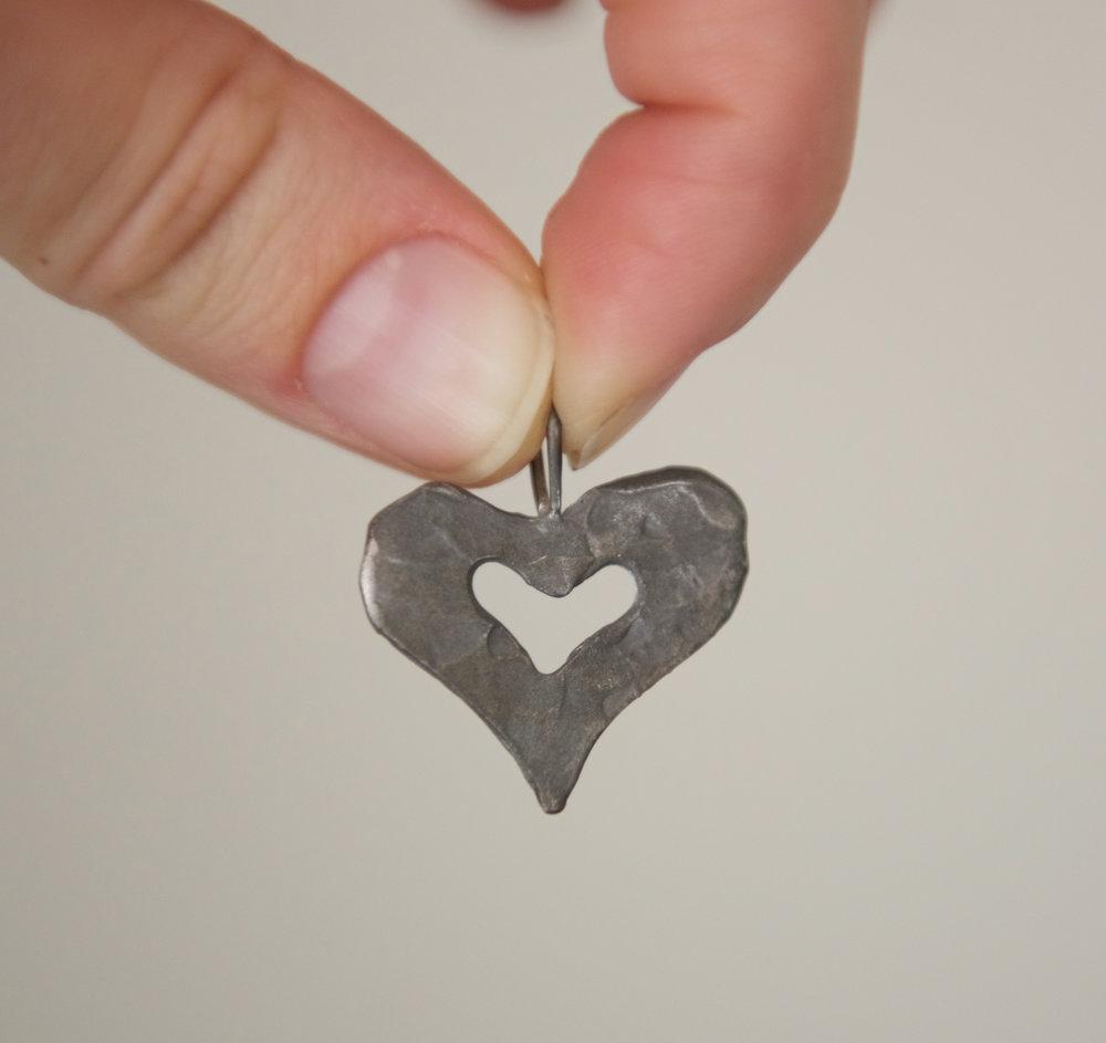 Silver Heart Pendant, $40