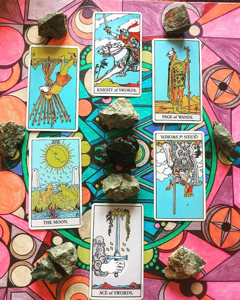 Many Major Arcana cards appear in this spread, try to look for common threads