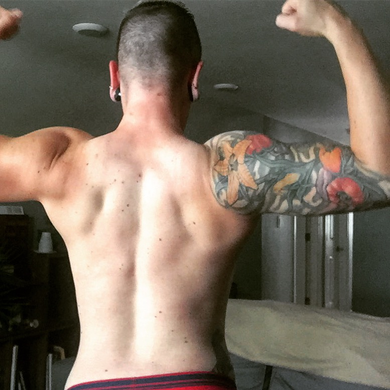My back continues to be one of my strongest body parts.
