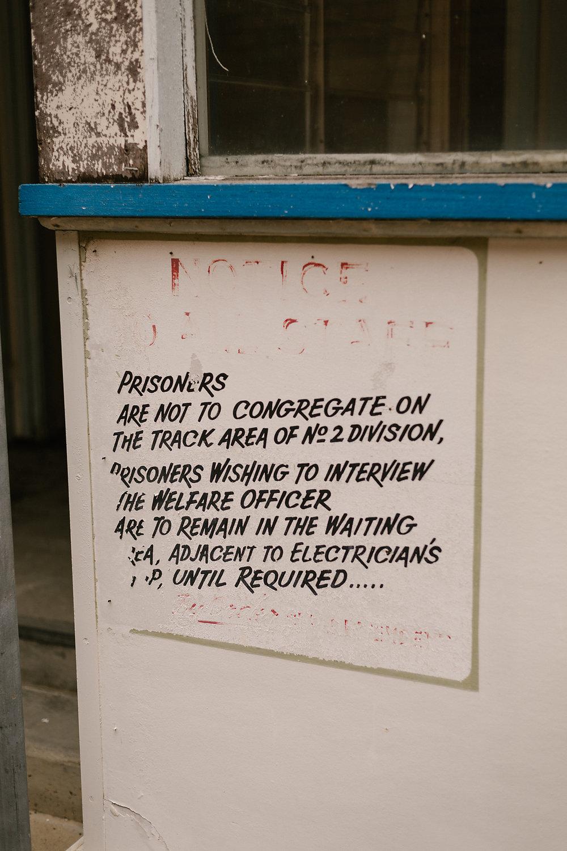Prison rules.